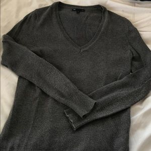 🌈 GAP Luxe Grey V-Neck Sweater